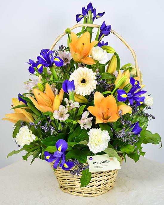 Basket Flower Arrangement Step By Step : Basket flower arrangement