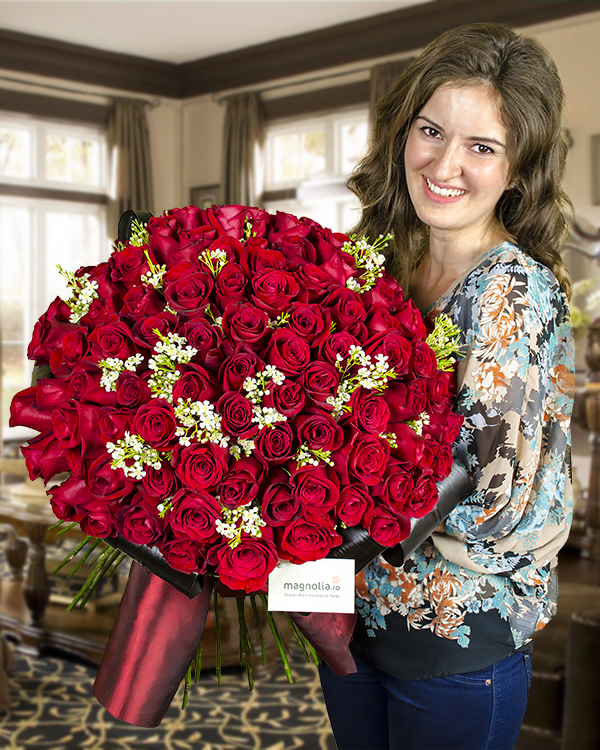 Bouquet with 101 roses