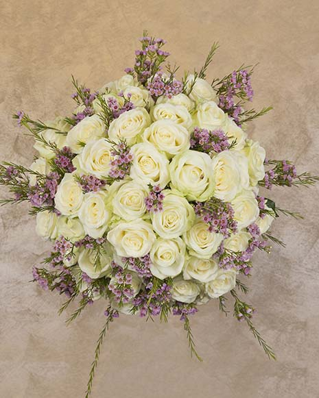 Luxury bouquet with white roses