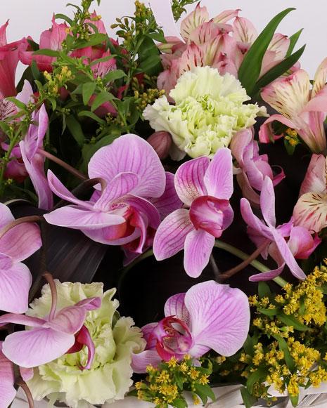 Cos cu orhidee si solidago