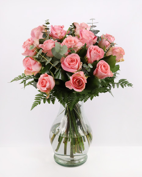 Buchet trandafiri roz