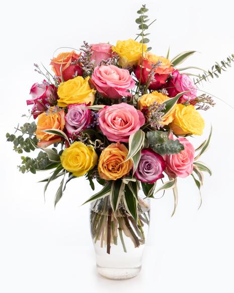 Buchet cu mix de trandafiri