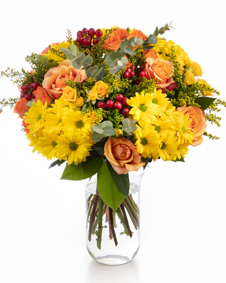 Bouquet with yellow and orange flowers