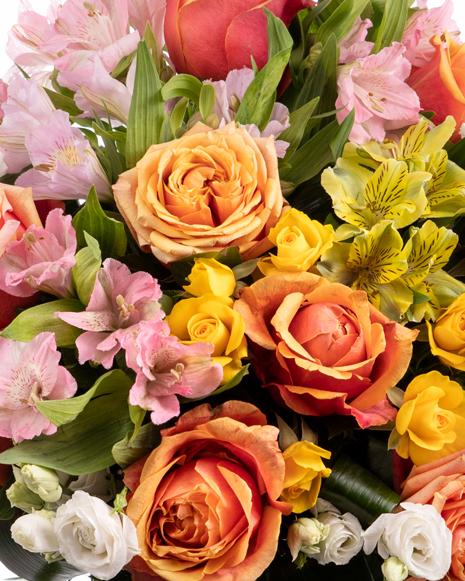 Buchet flori mix viu colorate