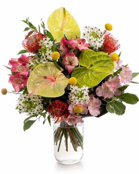 Anthurium and alstroemeria bouquet