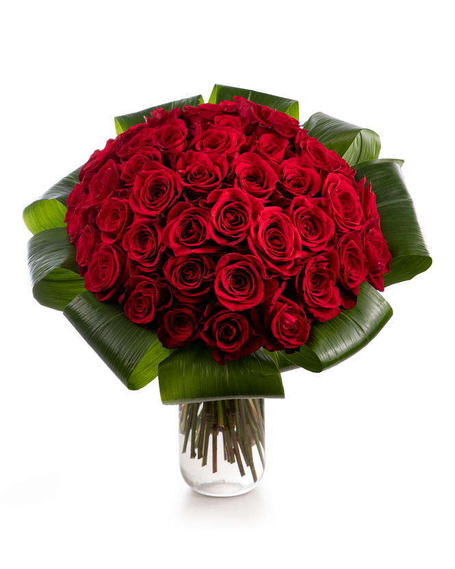 Bouquet with 49 red roses