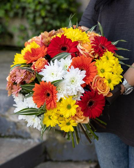 Colorful autumn bouquet