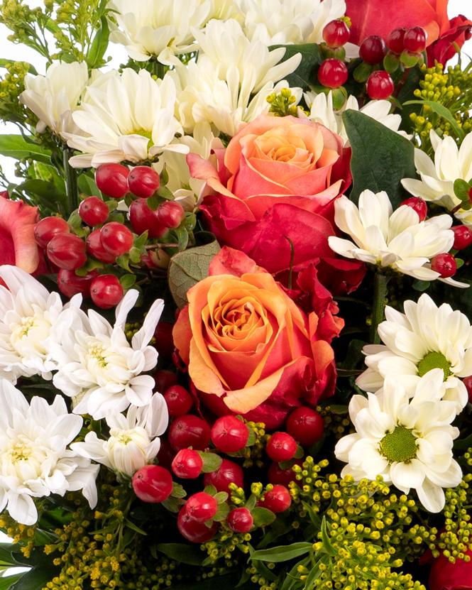 Buchet de toamnă cu crizanteme