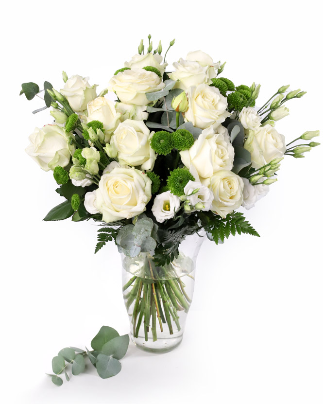 Winter bouquet of white flowers
