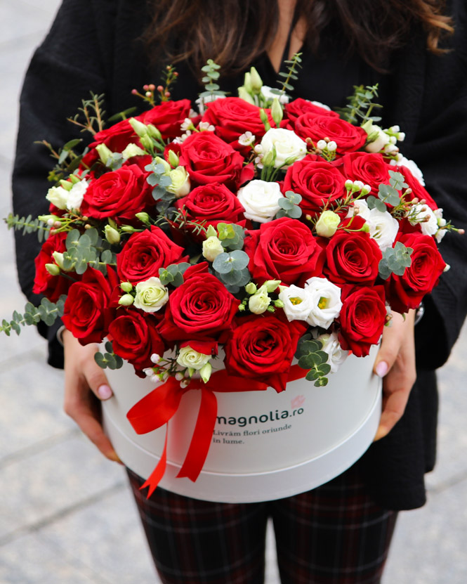 Romantic gift with roses