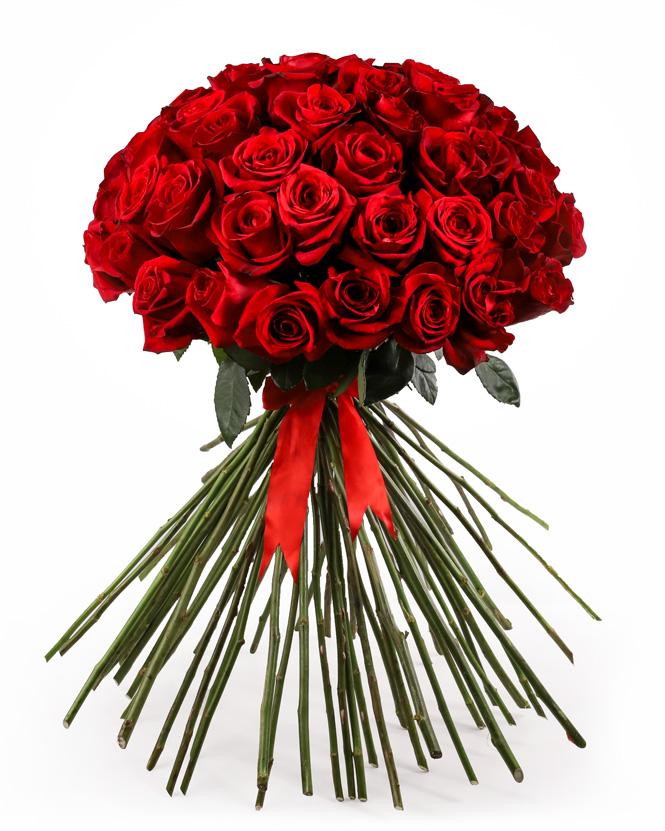 Buchet romantic cu trandafiri