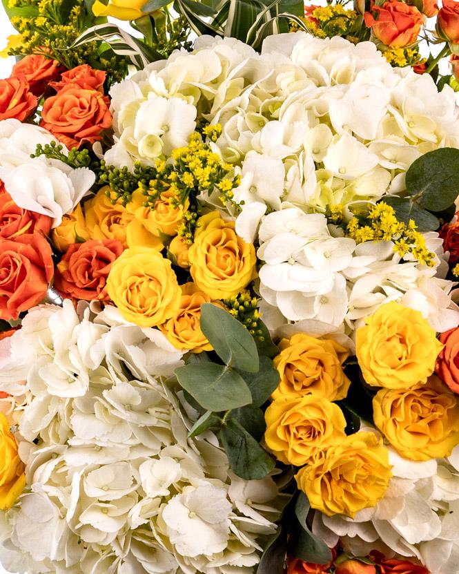 Buchet cu flori de vară