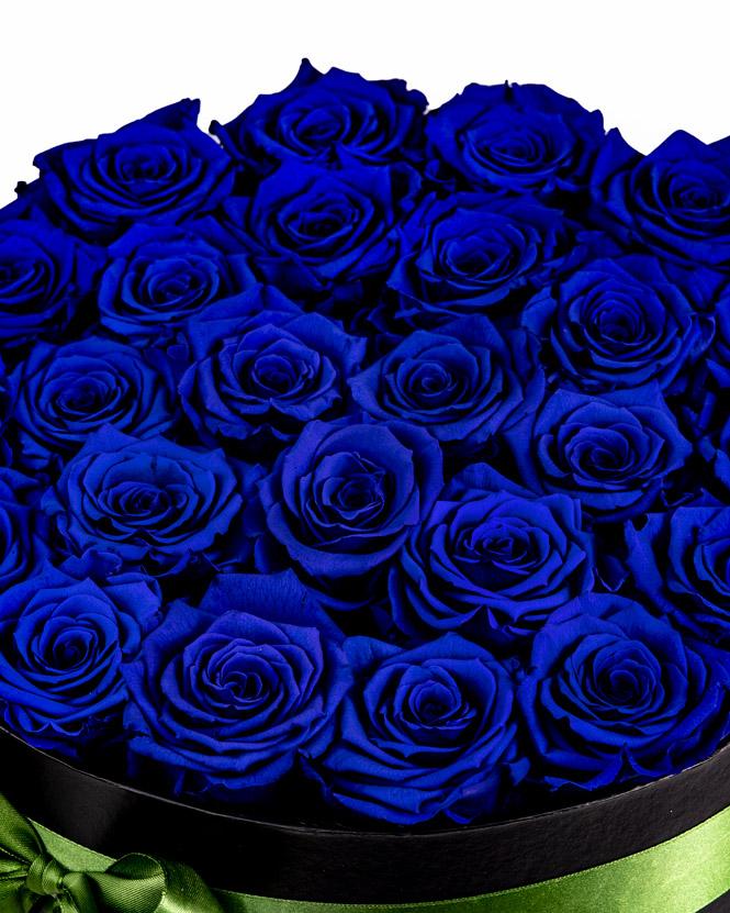 Preserved blue roses arrangement