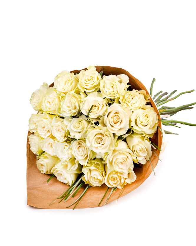 """Pure White"" bouquet"
