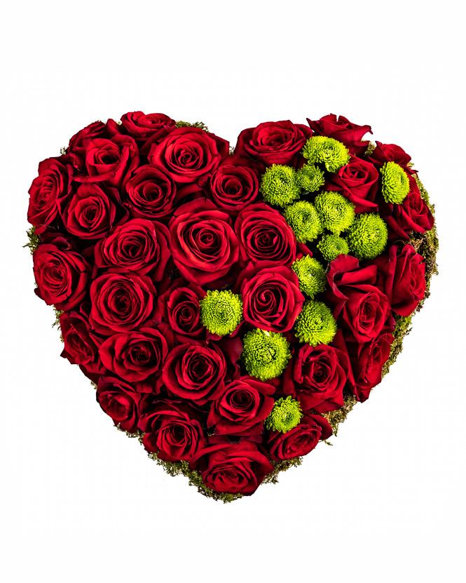 Aranjament în formă de inimă