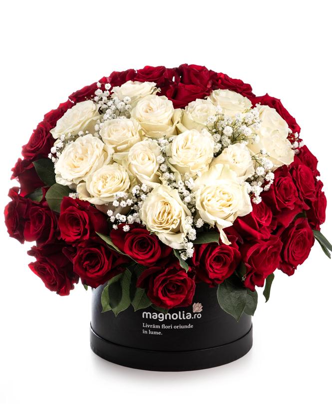 """Cutie cu trandafiri """"Te iubesc"""""""