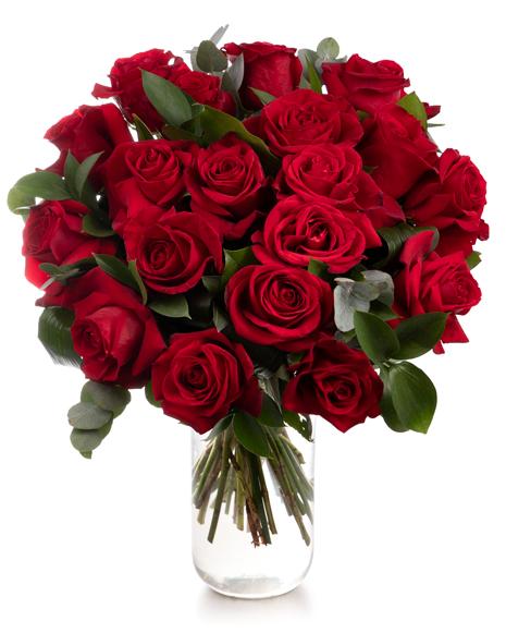 Buchet clasic cu trandafiri rosii