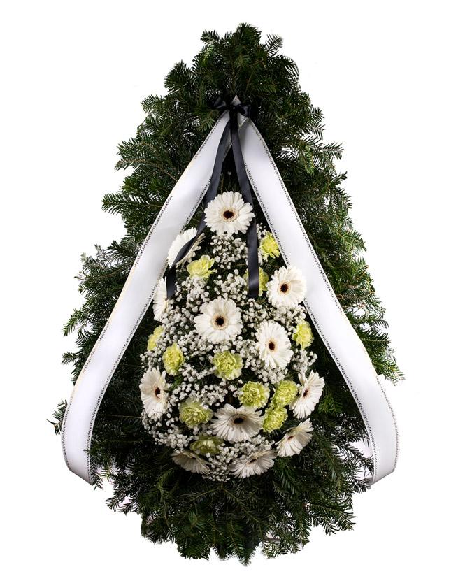 Coroana funerara cu gerbera