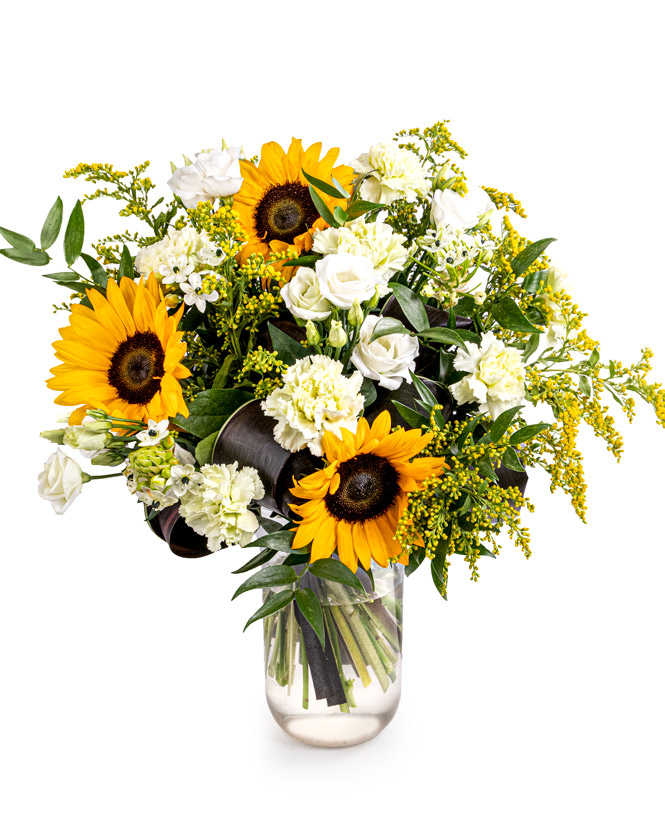 Buchet cu floarea soarelui