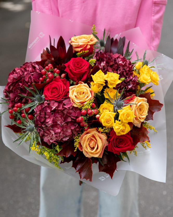 Bouquet in autumn shades