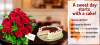 Flowers with Cake | Online Flower Shop Magnolia.ro