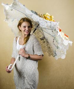 Umbrelă decorativă pentru nuntă