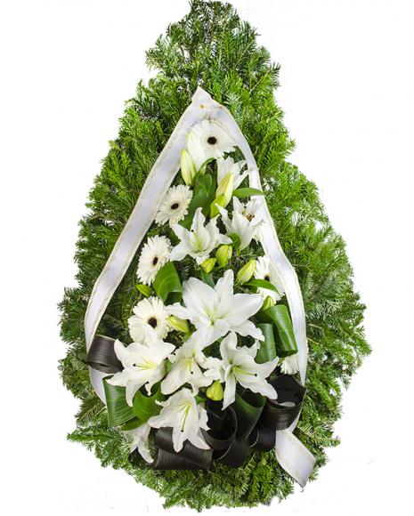 Aranjament funerar cu flori tăiate poza 2