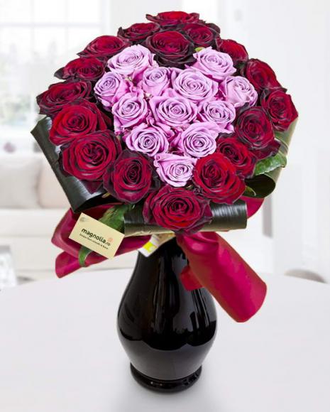 Buchete de trandafiri Inima - Pasiune Florala