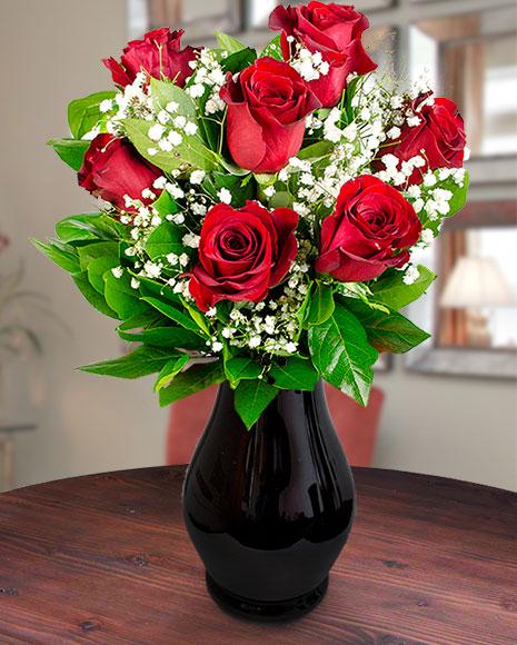 Buchet 7 trandafiri roșii