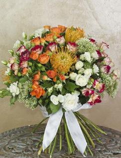 Buchet de lux cu trandafiri ramificaţi