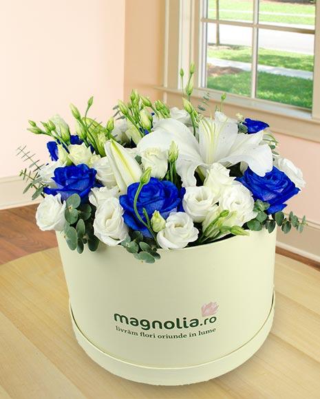 Aranjament floral în cutie