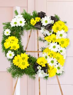 Jerbă funerară cu crizanteme