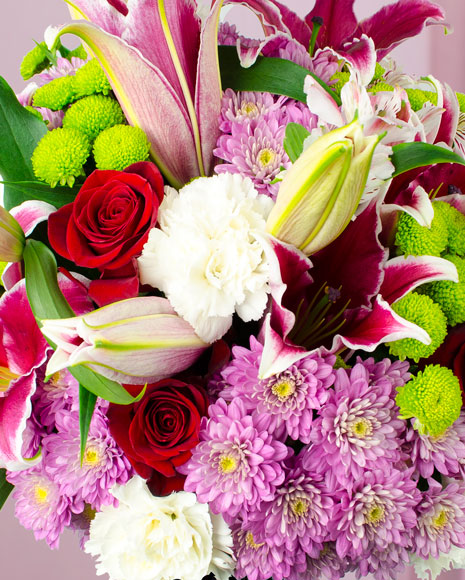 Buchet crini și crizanteme