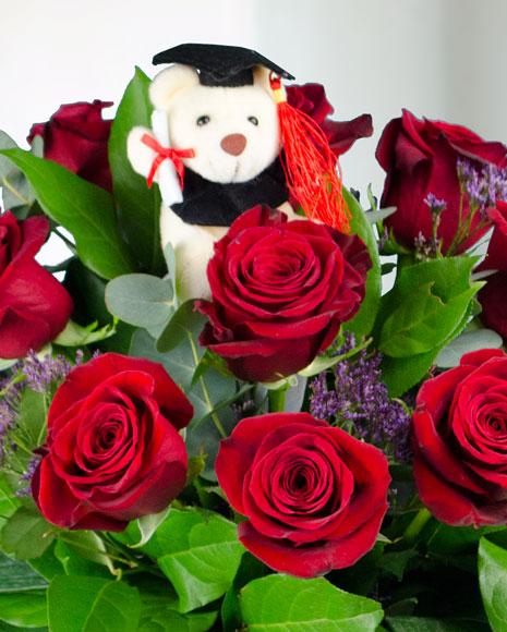 Buchet de absolvire cu trandafiri
