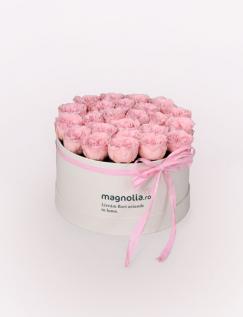 25 Trandafiri criogenati englezesti roz