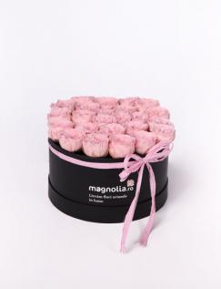 Cutie cu trandafiri criogenati englezesti
