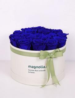 Cutie cu trandafiri criogenati albastri
