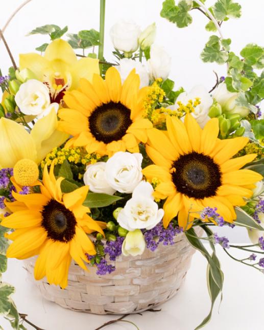 Coșuleț cu floarea-soarelui