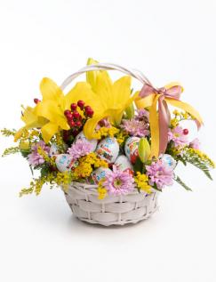 Cosuleț multicolor cu ouă Kinder