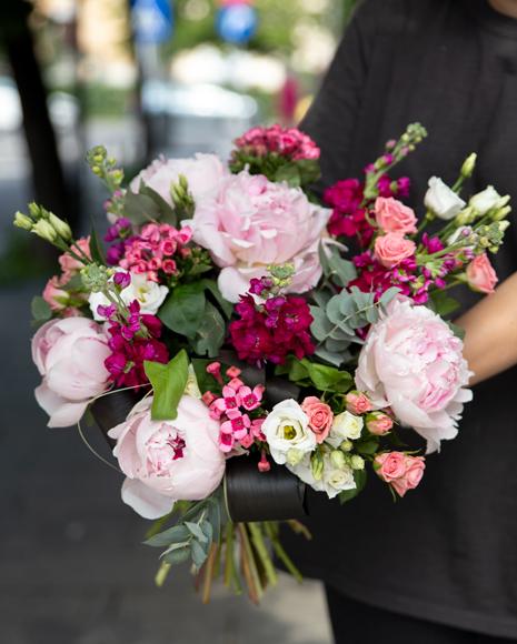 Buchet cu bujori roz
