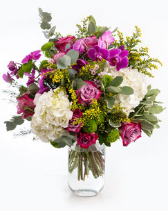 Bouquet with hydrangeas and orchids