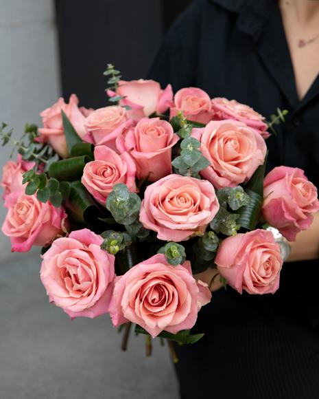 Flori de Dragobete - Buchet cu 19 Trandafiri Roz