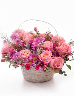 Cosulet cu flori roz