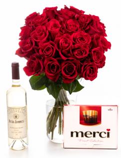 Buchet 23 trandafiri roşii