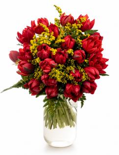 Buchet lalele roșii