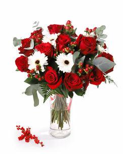 Buchet de iarna cu trandafiri