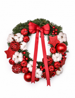 Fir wreath with decorations
