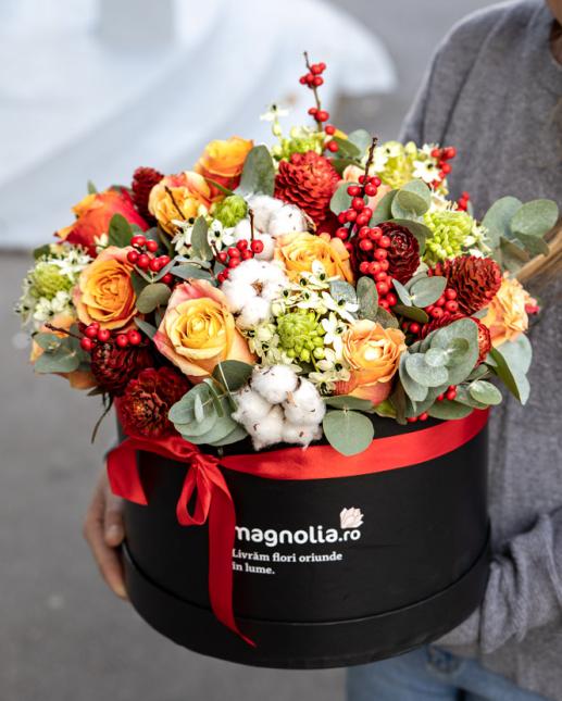 Aranjament floral de iarnă